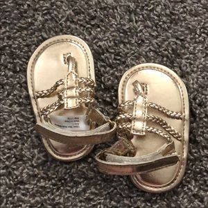 Baby girl size 1 gold sandals